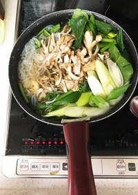 ほうれん草牡蠣鍋