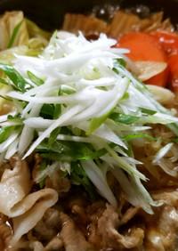 すき家の葱生姜牛すき鍋風♡うちは豚すき鍋