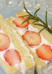 苺とマシュマロのサンドイッチ