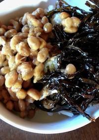 納豆と椎茸昆布のご飯