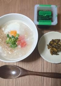 卵&明太子のオートミール粥
