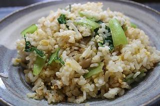 小松菜ともやしの炒飯