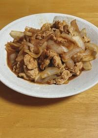 豚こま肉の味噌炒め