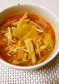 ピリ辛!具沢山の味噌スープ
