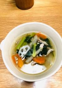 豚こまと野菜(多め)スープ 生姜味