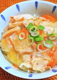 野菜たっぷりスープの残りで野菜あんかけ丼