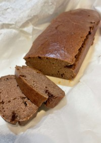 低脂質さっくりプロテインチョコケーキ