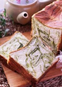 抹茶シートの生食パン