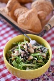 大豆とひじきの塩レモンサラダの写真