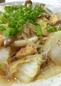 ズボラ一発☆ 白菜と油揚げと春雨の中華煮