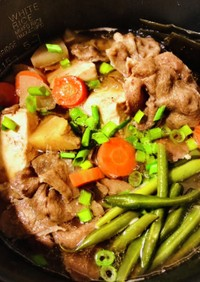 炊飯器で楽ちん お出汁が染みた 肉豆腐♡