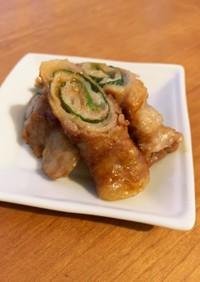 豚バラ肉の味噌シソ巻き