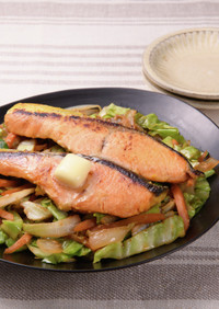 鮭西京漬けのちゃんちゃん焼き