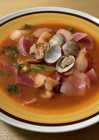 あさり&サラダ豆&野菜のトマトスープ