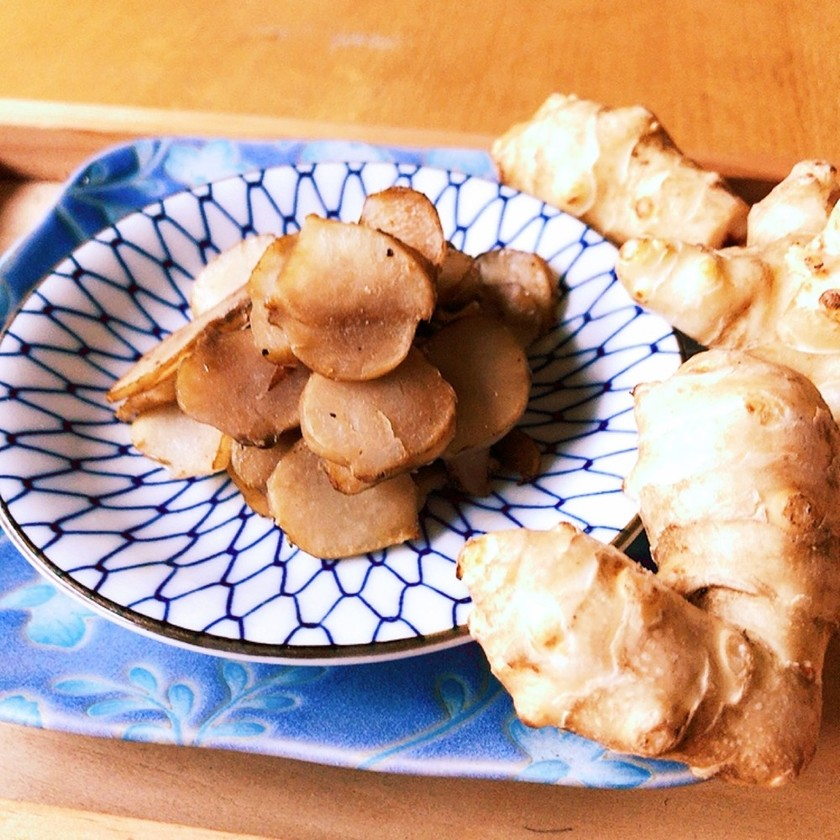 シンプルに♪菊芋のハーブ塩炒め
