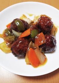 肉団子と野菜の甘酢あん(惣菜アレンジ)