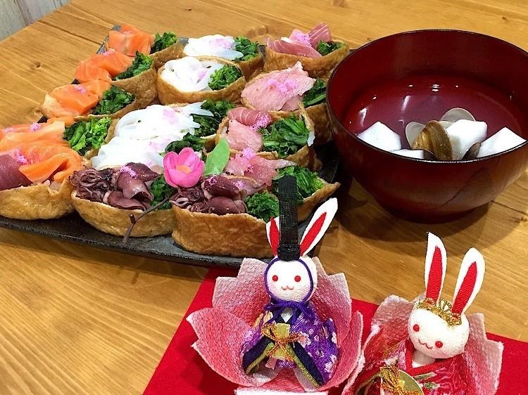 ひな祭りにも♬春の彩りいなり寿司★