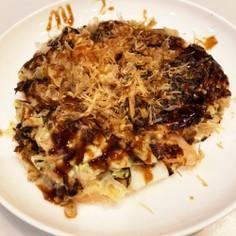 山芋とオートミールのお好み焼き