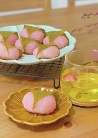 レンジで簡単!桜餅(道明寺)