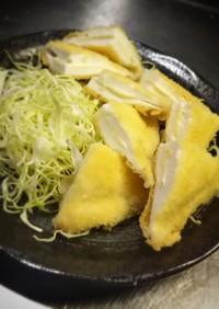 挟みチーズのはんぺんフライ(*≧∀≦*)