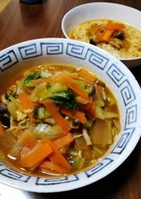 インスタント野菜たっぷり味噌ラーメン