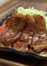 ジンジャーシロップの生姜焼き