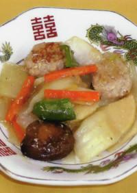 梅入り肉団子の八宝菜づけ