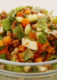 納豆とチーズの無限サラダ
