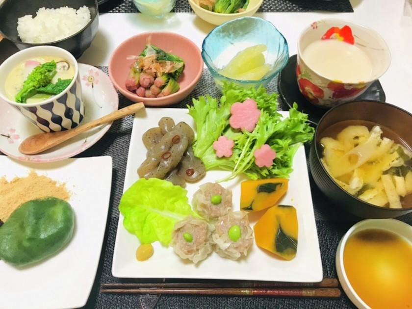 ♬今日の夕飯は焼売メインの春の晩ご飯♬