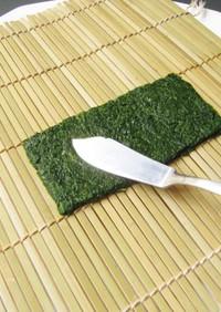 ほうれん草で海苔作り