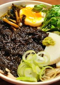 生海苔の温かい蕎麦