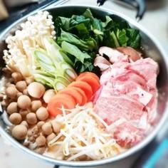 創味シャンタンで!絶品・胡麻豆乳キムチ鍋