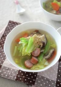 簡単!春キャベツの中華スープ