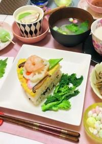 雛祭りディナー・夕飯献立・節句お祝いご飯