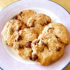 ココナッツ風味のアーモンドチョコクッキー