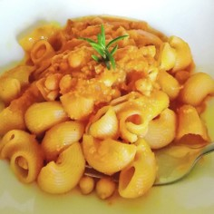パスタとひよこ豆