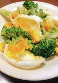 ブロッコリーとゆで卵の明太子サラダ