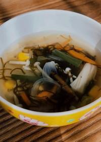 【離乳食完了期~】便秘解消!もずくスープ