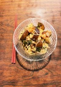トマト&茄子&椎茸トマガーリックスパ素麺