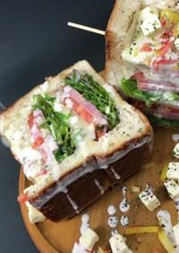インスタ映え 食パン サラダ チーズ