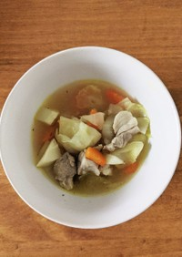 鶏モモスープ