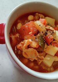 トマト缶で豚肉と大豆の簡単トマト煮♪