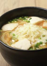 豆腐とキムチのチーズスープヌードル