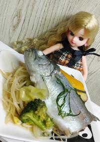 リカちゃん♡温野菜にじますブイヨン蒸し