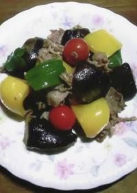 豚肉と夏野菜の塩麴炒め