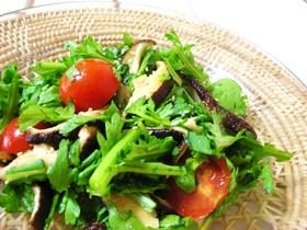 春菊と椎茸のサラダ♡ゆずこしょう風味