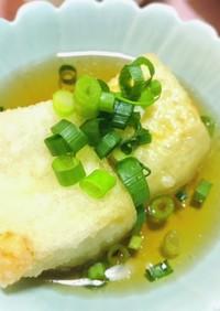 白だしで簡単揚げ出し豆腐・夕飯のおかず