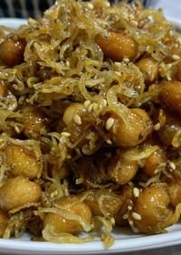 覚書 大豆とサクサクジャコ