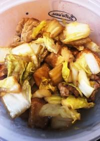 【白菜大量消費】厚揚げと白菜の甘辛炒め