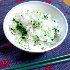 ぬき菜☆de☆菜めし+シラス入り♪